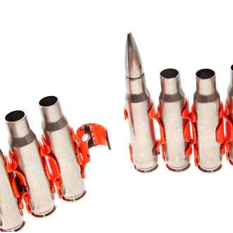 ceinture Argent & Fluorescente - Orange Metal Bullet