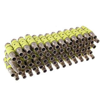 ceinture Argent & Fluorescente - Yellow Metal Bullet