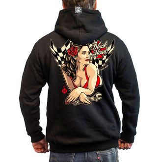 sweat-shirt avec capuche pour hommes - HOT ROD ANGEL - BLACK HEART - 003-0033-BLK