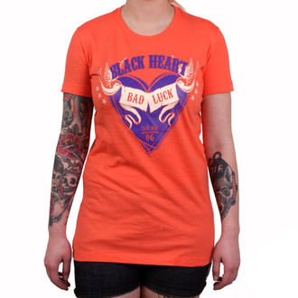 tee-shirt street pour femmes - BAD LUCK - BLACK HEART, BLACK HEART