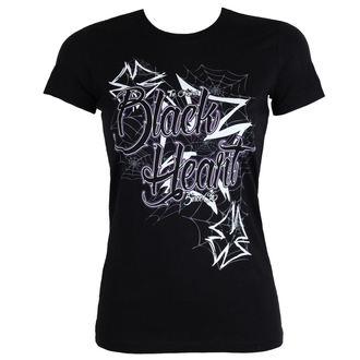 tee-shirt street pour femmes - CROSS - BLACK HEART, BLACK HEART