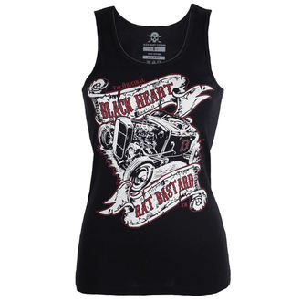 top pour femmes BLACK HEART - RAT BASTARD - NOIR, BLACK HEART