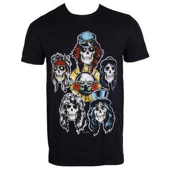 tee-shirt métal pour hommes Guns N' Roses - Vintage Heads - ROCK OFF, ROCK OFF, Guns N' Roses