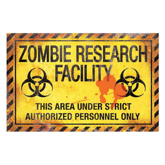 panneau 'Zombie research facillity'