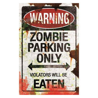 panneau 'Parking pour zombies'