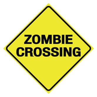 panneau 'Traversée de zombie'