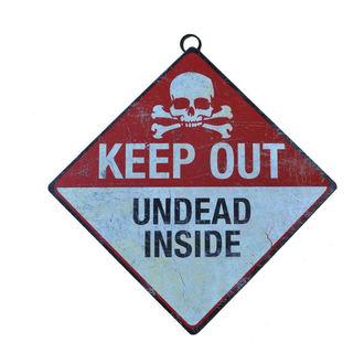 panneau 'N'entrez pas - zombies à l'intérieur'