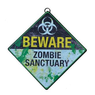 panneau 'Méfitez-vous du sanctuaire zombie'