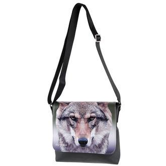 sac à main (sac) 'Portrait d'un loup'