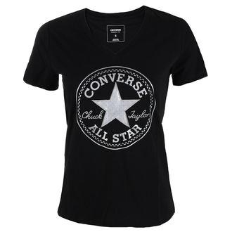 tee-shirt street pour femmes - Metallic Chuck Patch Vneck - CONVERSE, CONVERSE