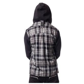 sweat-shirt avec capuche pour hommes - QUINN JACKET MENS GREY CHECK - VIXXSIN, VIXXSIN