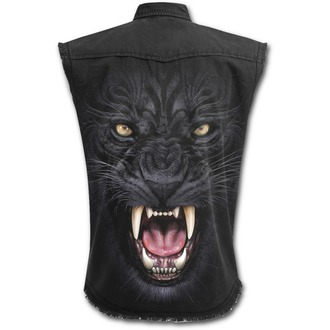 chemise hommes sans manches SPIRAL - TRIBAL PANTHER - Noir, SPIRAL