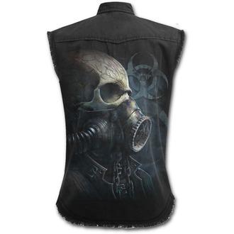 chemise hommes sans manches SPIRAL - BIO-SKULL - Noir, SPIRAL