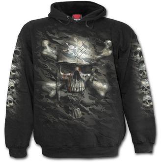 sweat-shirt avec capuche pour hommes - CAMO-SKULL - SPIRAL - T141M451