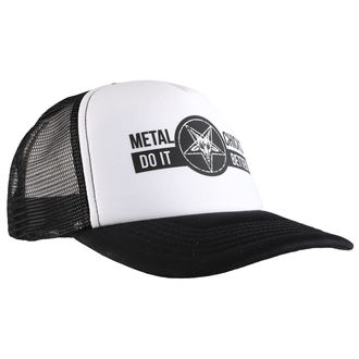 casquette METAL CHICKS DO IT BETTER - BAPHOMET - Logo - WHT & NOIR, METAL CHICKS DO IT BETTER