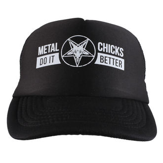 casquette METAL CHICKS DO IT BETTER - Baphomet - Logo - Noir, METAL CHICKS DO IT BETTER