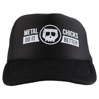 casquette METAL CHICKS DO IT BETTER - Skull - Logo - Noir, METAL CHICKS DO IT BETTER