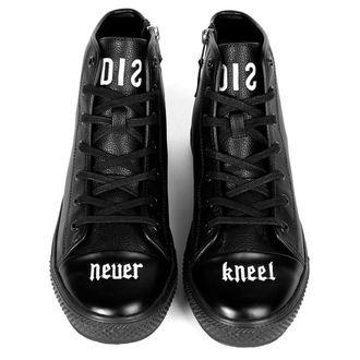 chaussures de tennis montantes unisexe - NEVER KNEEL - DISTURBIA - DCSS17-128