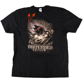 tee-shirt métal pour hommes Disturbed - Asylum - ROCK OFF, ROCK OFF, Disturbed