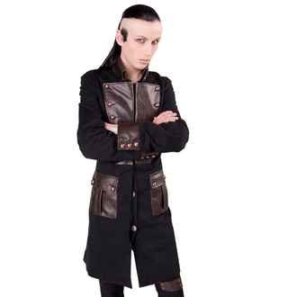 manteau pour hommes Aderlass - Steam Punk Coat Denim Black-Brown, ADERLASS