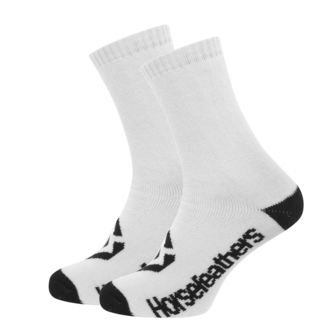Chaussettes HORSEFEATHERS - LOBY - BLANC, HORSEFEATHERS