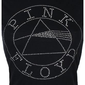 tee-shirt métal pour femmes Pink Floyd - Circle Logo Diamante - ROCK OFF, ROCK OFF, Pink Floyd