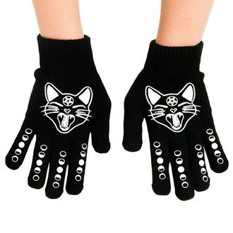 Gants TOO FAST - WITCHY WOMAN BLACK CAT & MOONS, TOO FAST