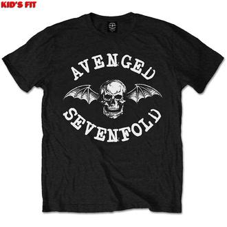 T-shirt pour enfants Avenged Sevenfold - Chauve-souris de la mort classique - ROCK OFF, ROCK OFF, Avenged Sevenfold