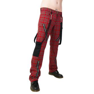 pantalon BLACK PISTOL - Punk Pants Tartan Rouge-Vert, BLACK PISTOL