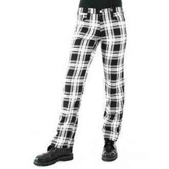 pantalon pour hommes BLACK PISTOL - Tartan Pants Noir-blanc, BLACK PISTOL