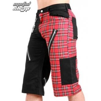 short pour hommes BLACK PISTOL - Tartan Short Pants Noir / Rouge, BLACK PISTOL