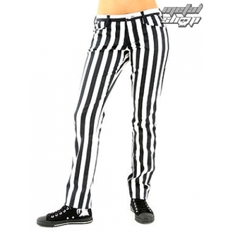 pantalon pour femmes BLACK PISTOL - Close Pants Stripe Noir / blanc, BLACK PISTOL