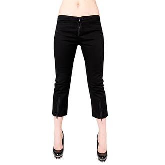 short 3/4 pour femmes BLACK PISTOL - Zip Slacks Denim Noire, BLACK PISTOL