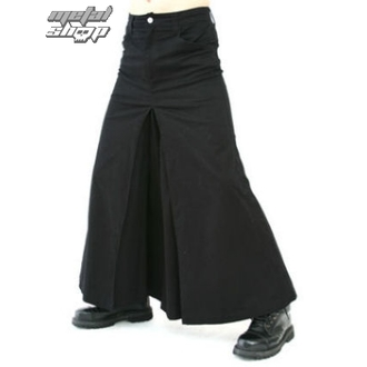 kilt BLACK PISTOL - Men Skirt Denim Noire, BLACK PISTOL