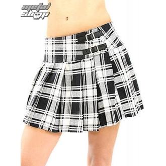 jupes pour femmes BLACK PISTOL - Buckle Mini Tatran - Noir-Blanc, BLACK PISTOL