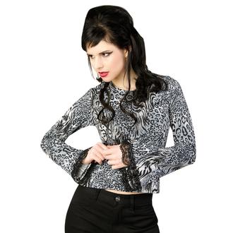 tee-shirt gothic et punk pour femmes - Ladys Longsleeve Jersey Leppard Grey - ADERLASS, ADERLASS