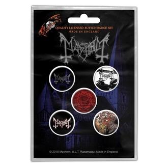 Badges Mayhem - De Mysteriis Dom Sathanas - RAZAMATAZ, RAZAMATAZ, Mayhem