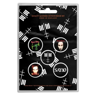 Badges Marilyn Manson - Cross Logo - RAZAMATAZ, RAZAMATAZ, Marilyn Manson