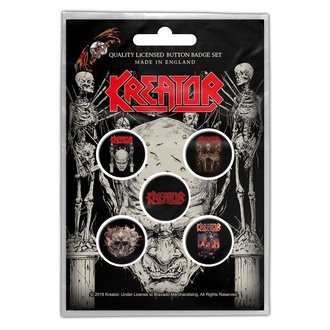 Badges Kreator - Skull & Skeletons - RAZAMATAZ, RAZAMATAZ, Kreator