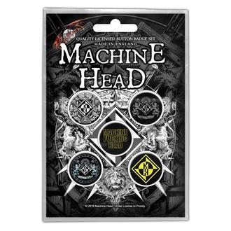 Badges Machine Head - Crest - RAZAMATAZ, RAZAMATAZ, Machine Head