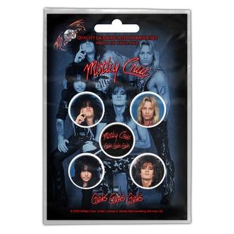 Badges Mötley Crüe - Girls, Girls, Girls - RAZAMATAZ, RAZAMATAZ, Mötley Crüe
