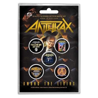Badges Anthrax - Among The Living - RAZAMATAZ, RAZAMATAZ, Anthrax