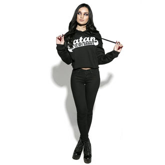 sweat-shirt avec capuche pour femmes - Satan Is My Daddy - BLACK CRAFT, BLACK CRAFT