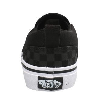 chaussures de tennis basses enfants - YT ASHER (Checker)Blk/Bl - VANS