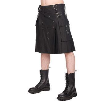 Kilt pour homme BLACK PISTOL - Denim - Noir, BLACK PISTOL