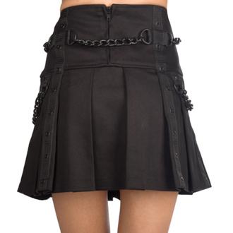 Jupe pour femme- Black Pistol - Denim et chaïnes - Noir, BLACK PISTOL