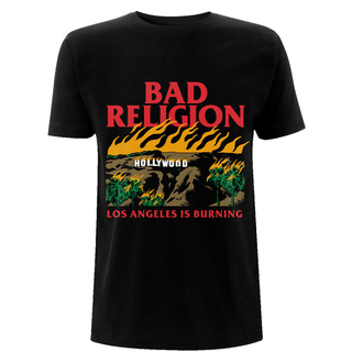 T-shirt pour hommes Bad Religion - Burning Black, NNM, Bad Religion