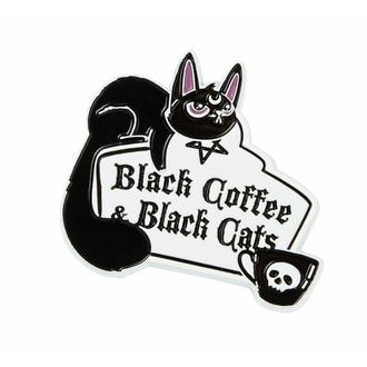 broche KILLSTAR - Café et chats - Argent, KILLSTAR