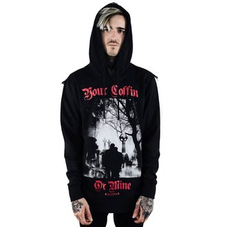 sweat-shirt avec capuche unisexe - Coffin - KILLSTAR, KILLSTAR
