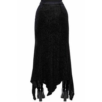 Jupe pour femmes KILLSTAR - Come Crawling Velvet Maxi - Noir, KILLSTAR